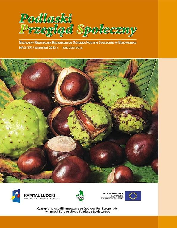 Podlaski Przegląd Społeczny Nr 3 (17) wrzesień 2013 r.