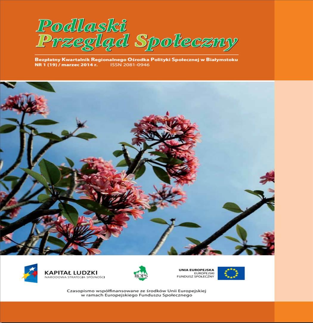 Podlaski Przegląd Społeczny Nr 1 (19) marzec 2014 r.